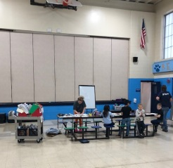 Classes doubling up in cafeteria space